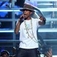 Pharrell Williams sur la scène des BET Awards au Nokia Theatre de Los Angeles, le 29 juin 2014.