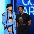 Zendaya et Nick Cannon sur la scène des BET Awards au Nokia Theatre de Los Angeles, le 29 juin 2014.
