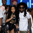 Nicki Minaj et Lil Wayne sur la scène des BET Awards au Nokia Theatre de Los Angeles, le 29 juin 2014.