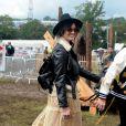 Daisy Lowe et Nick Grimshaw à Glastonbury, le 28 juin 2014.
