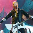 James Hatfield de Metallica à Glastonbury, le 28 juin 2014.