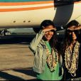 Marine Lorphelin et Alexandra Rosenfeld à Tahiti. Juin 2014.