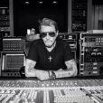 Johnny Hallyday en studio à Los Angeles, photo publiée sur son compte Twitter le 23 juin 2014
