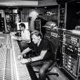 Johnny Hallyday en studio à Los Angeles, photo publiée sur son compte Instagram le 21 juin 2014
