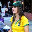 La belle Alessandra Ambrosio, Adriana Lima et leurs amies ont regardé le match Brésil-Allemagne et ont assisté, impuissantes, à la défaite de leur Nation.   8 Juillet 2014 à New York