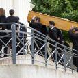 Obsèques de Benoît Duquesne, à l'église Jeanne d'Arc de Versailles, le jeudi 10 juillet 2014.