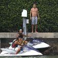 Gerard Piqué en vacances à Miami le 7 juillet 2014.