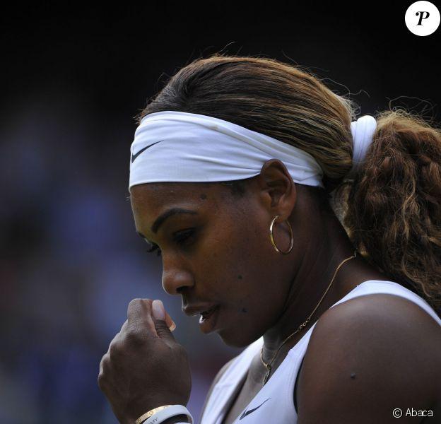 Serena Williams après sa défaite face à Alizé Cornet (1-6, 6-3, 6-4) au troisième tour de Wimbledon à Londres le 28 juin 2014