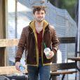 """Exclusif - Daniel Radcliffe sur le tournage de """"Horns"""" à Vancouver, le 2 octobre 2012."""