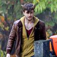Daniel Radcliffe sur le tournage du film Horns à Surrey, Canada, le 29 octobre 2012.