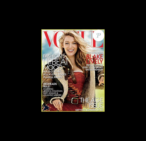 Blake Lively en couverture du magazine Vogue US
