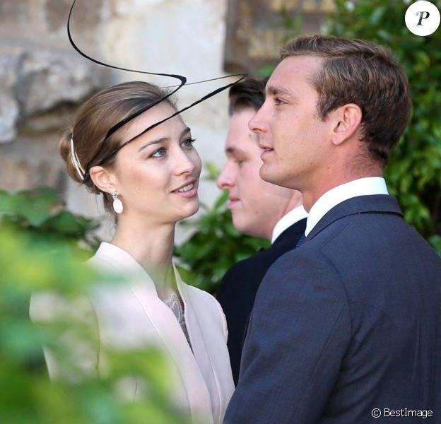 Pierre Casiraghi et Beatrice Borromeo au mariage religieux de S.A.R le Prince Felix de Luxembourg et Claire Lademacher en la basilique Sainte-Marie-Madeleine de Saint-Maximin-la-Sainte-Baume, le 21 septembre 2013