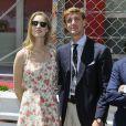 Pierre Casiraghi et sa compagne Beatrice Borromeo au Grand Prix de Formule 1 de Monaco le 25 mai 2014.