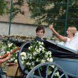 Image du somptueux mariage d'Isabelle Strom, petite-fille de Robert Zellinger de Balkany, et de Clemente Zavaleta Jr, le 26 juillet 2014 au château de Sainte-Mesme (Yvelines).