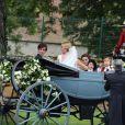 Mariage d'Isabelle Strom, petite-fille de Robert Zellinger de Balkany, et de Clemente Zavaleta Jr, le 26 juillet 2014 au château de Sainte-Mesme (Yvelines).