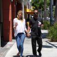 Paige Butcher et Eddie Murphy à Beverly Hills, le 17 juillet 2014.