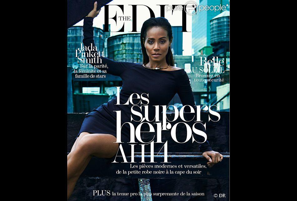 Jada Pinkett Smith en couverture de The Edit, magazine en ligne de Net-a-porter.com