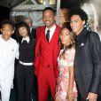 """Willow Smith, Jada Pinkett, Will Smith, Jaden Smith, Trey Smith - Première du film """"After Earth"""" à New York, le 29 mai 2013."""