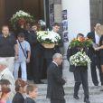 Obsèques de Thierry Redler en présence de sa famille et de ses amis au cimetière du Père-Lachaise à Paris, le 5 août 2014.