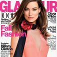 Couverture du magazine Glamour avec Olivia Wilde (numéro de septembre, en kiosques dès le 12 août).