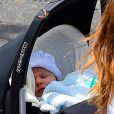 Otis, le bébé d'Olivia, à New York le 24 mai 2014.