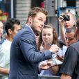 Chris Pratt à New York le 29 juillet 2014.