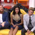 Jessica, Geoffrey et Sacha dans la quotidienne de Secret Story 8, sur TF1, le vendredi 8 aout 2014
