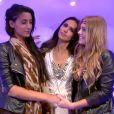 Elodie, Leïla et Sara dans la quotidienne de Secret Story 8, sur TF1, le vendredi 8 aout 2014
