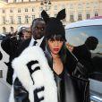Rihanna à Paris pendant la Fashion Week