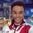 Tom Daley médaillé d'or aux Jeux du Commonwealth, le 2 août 2014.