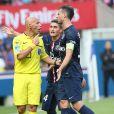 Thiago Motta lors du match PSG-Bastia au Parc des Princes à Paris le 16 août 2014