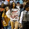 Rihanna au match de basketball caritatif RN Summer Classic au Barclays Center. Brooklyn, le 21 août 2014.