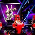 Garou, Jenifer et Louis Bertignac dans The Voice Kids sur TF1. Episode 1 diffusé le samedi 23 août 2014 sur TF1.