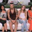 Nathalie, Aymeric, Sara et Leïla habitent dans la Maison de la seconde chance (dans  Secret Story 8 , le dimanche 24 août 2014.)