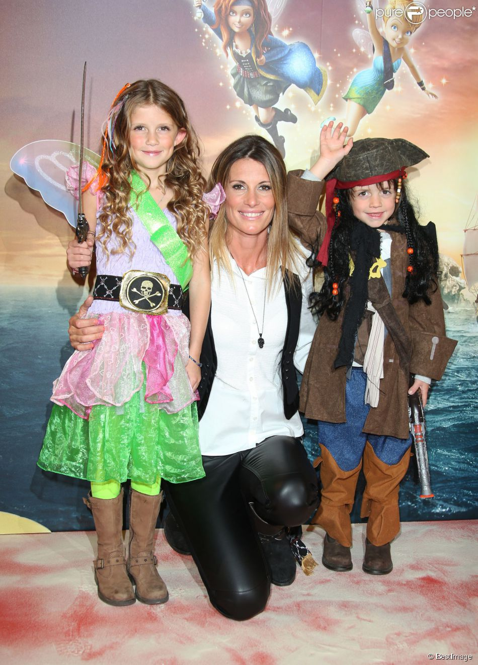 Sophie thalmann et ses enfants mika et charlie avant premi re du film clochette et la f e - Sophie thalmann charlie soumillon ...