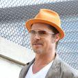 Brad Pitt détendu à New York le 31 août 2014.
