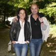 """Mazarine Pingeot et son compagnon Didier Le Bret - 19ème édition de """"La Forêt des livres"""" à Chanceaux-près-Loches, le 31 août 2014."""