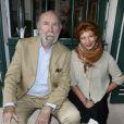 """Jean-Pierre Marielle et sa femme Agathe Natanson - 19ème édition de """"La Forêt des livres"""" à Chanceaux-près-Loches, le 31 août 2014."""