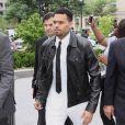 Chris Brown arrive au tribunal de Washington D.C. Le 25 juin 2014.