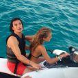 Exclusif - L'acteur Orlando Bloom, en vacances à Ibiza, avec la jeune Lykke Glommen, le 6 août 2014.