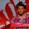 Justine dans The Voice Kids, prime du samedi 5 septembre 2014 sur TF1.