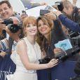 Hommage à Jessica Chastain sur les planches de Deauville à l'occasion du 40e Festival du cinéma americain de Deauville le 5 septembre 2014