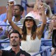 Eva Longoria lors de la finale de l'US Open entre Serena Williams et Caroline Wozniacki, le 7 septembre 2014 à l'USTA Billie Jean King National Tennis Center de New York