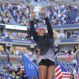 Serena Williams après sa victoire sur Caroline Wozniacki en finale de l'US Open à l'USTA Billie Jean King National Tennis Center de New York le 7 septembre 2014