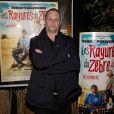 """Benoit Poelvoorde à l'avant-premiere du film """"Les Rayures du zèbre"""" à Charleroi en Belgique le 30 janvier 2014"""