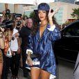 """""""Rihanna arrive au défilé Alexander Wang printemps-été 2015 à New York. Le 6 septembre 2014."""""""