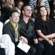 Rihanna, Laurie Anderson, Bono, Ali Hewson et leur fille Jordan assistent au défilé EDUN printemps-été 2015 à New York. Le 7 septembre 2014.