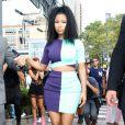 Nicki Minaj arrive au défilé Alexander Wang printemps-été 2015 à New York, le 6 septembre 2014.