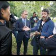 Fleur Pellerin, la nouvelle ministre de la Culture, est venue sur le tournage de la nouvelle série historique de Canal+, Versailles, réalisée par Jalil Lespert - 4 septembre 2014