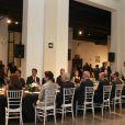 Le roi Felipe VI et la reine Letizia d'Espagne au Musée automobile de Malaga le 5 septembre 2014 pour le dîner d'inauguration du XIXe Forum Espagne-Etats-Unis.